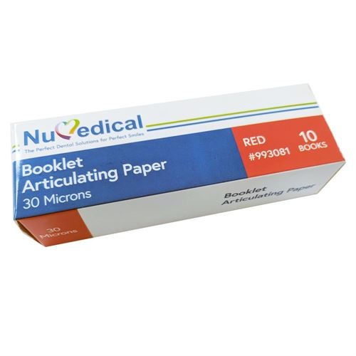 Articulating Paper, Booklet (30 Microns with 10 Booklets, Red), 993081