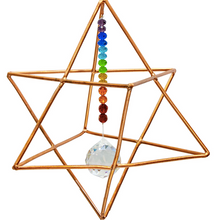 Load image into Gallery viewer, Copper Merkaba Energies with Chakra Crystal
