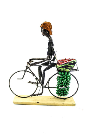 Cyclist With Fruits