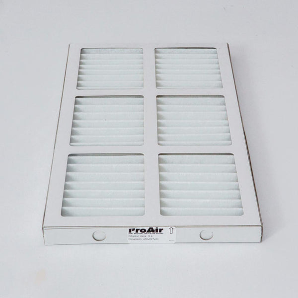 Proair 600 HRV Filters - Filter Size: 450 x 183x 21 mm