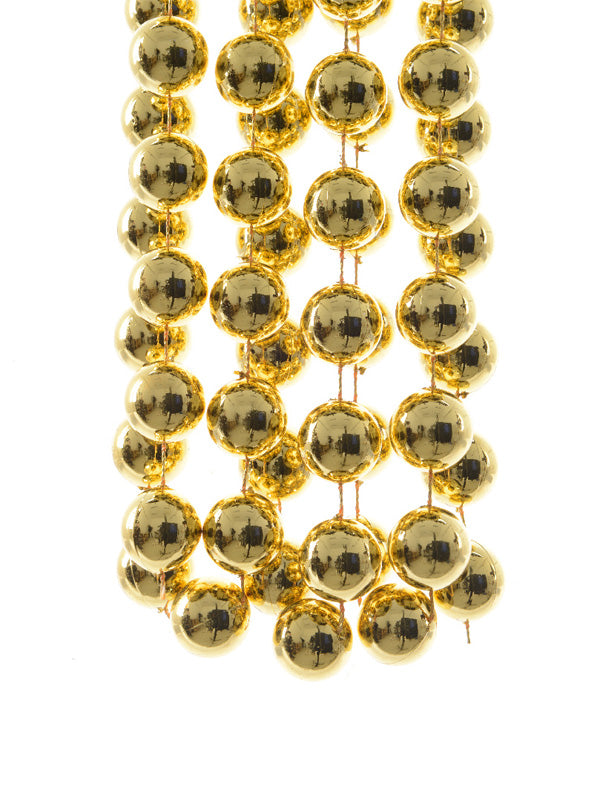 Plastic Bead Garland - Gold