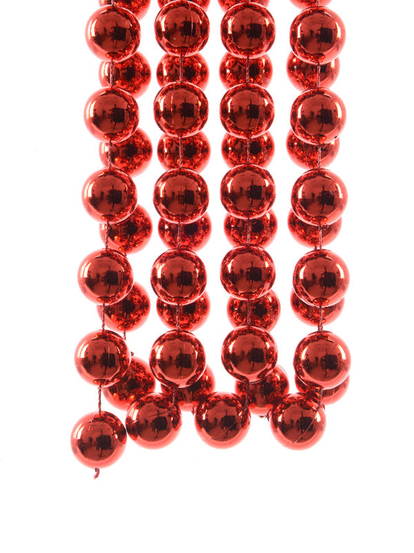 Plastic Bead Garland - Red