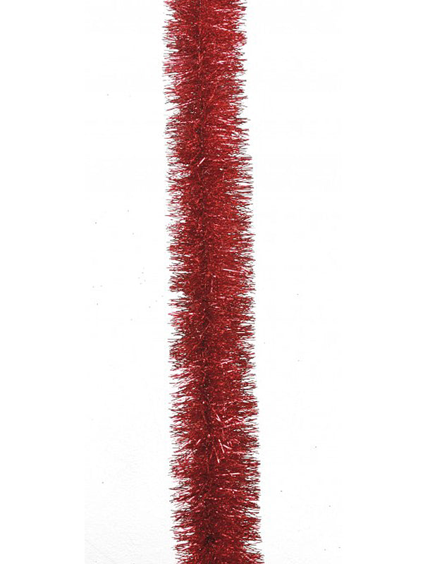 2M Fine Cut Tinsel - Christmas Red