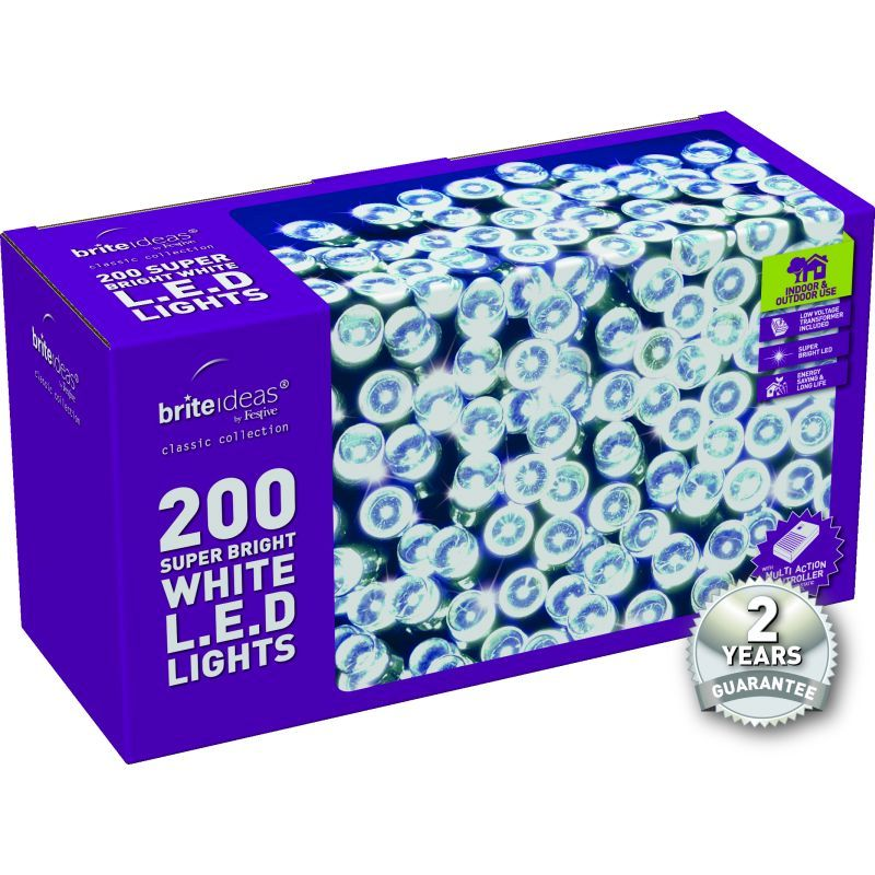 200 LED Multi-Action Lights - White