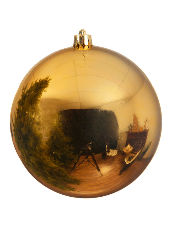 14cm Shiny Shatterproof Bauble - Gold