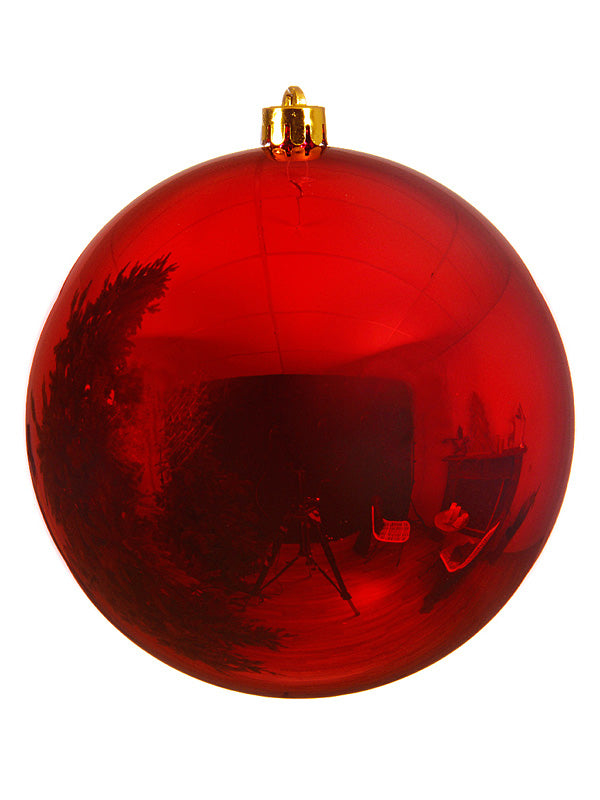 20cm Shiny Shatterproof Bauble - Red