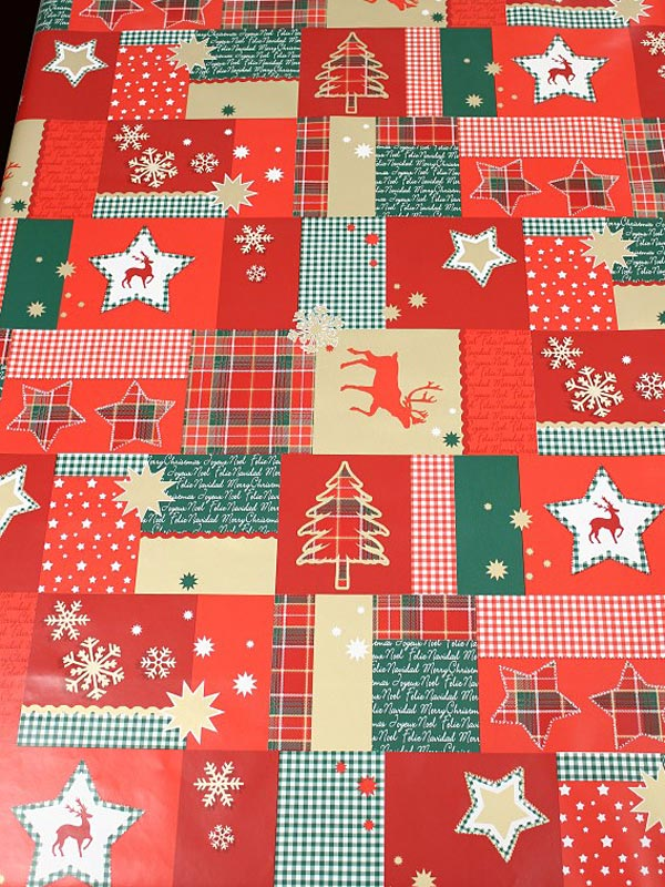 "Christmas Quilt 55"" x 86"" (142x220cm) - Multi-colour"