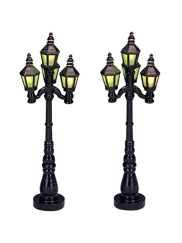 Old English Street Lamp, Set of 2, B/O (4.5V)