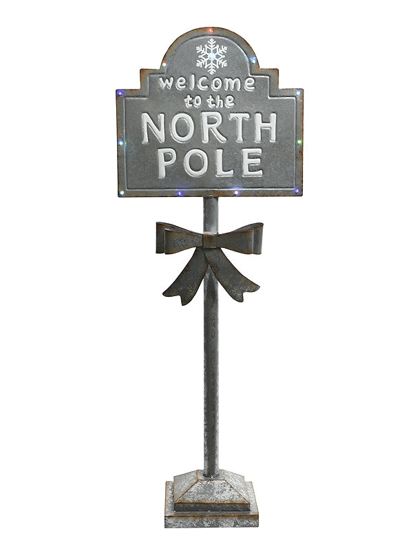 Welcome To The North Pole Iron Sign