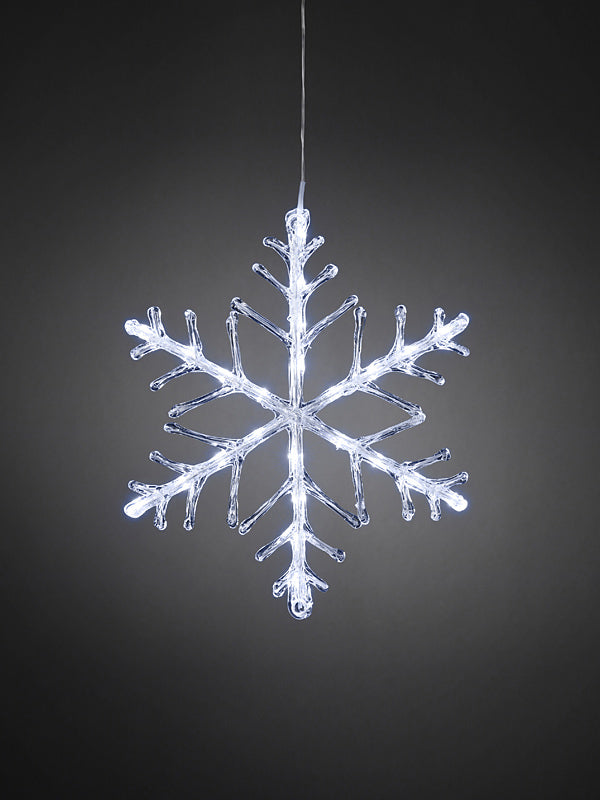 40cm LED Acrylic Christmas Snowflake - White