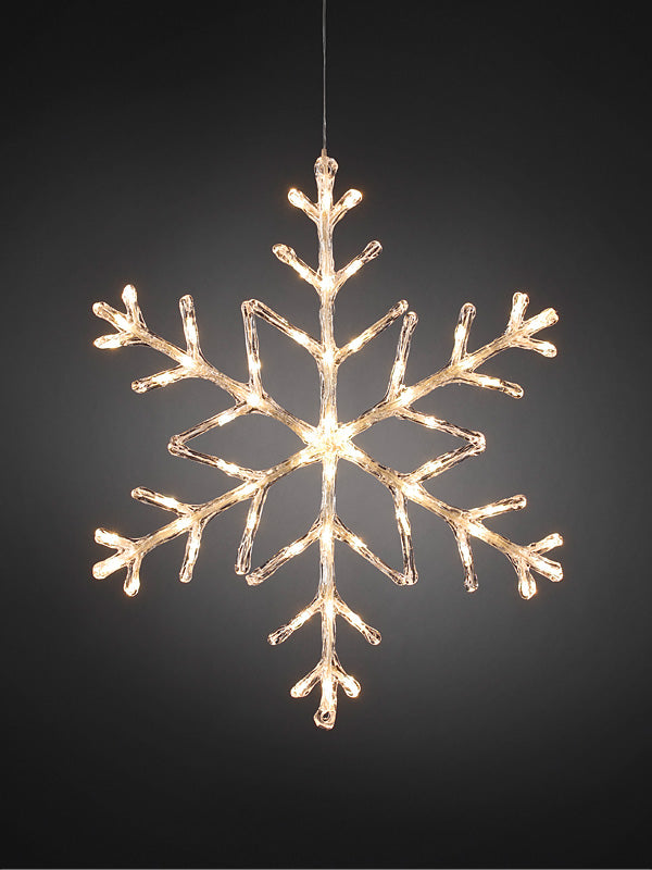 60cm LED Snowflake - Warm White