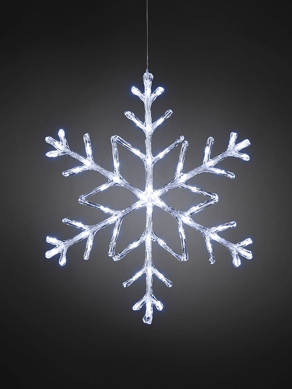 60cm LED Acrylic Christmas Snowflake - White