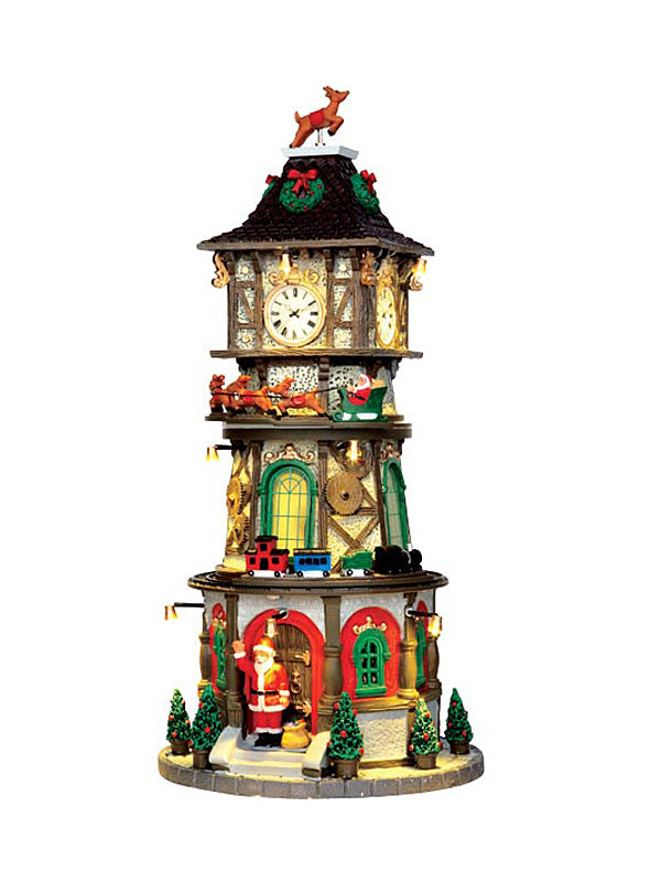 Christmas Clock Tower, With 4.5V Adaptor