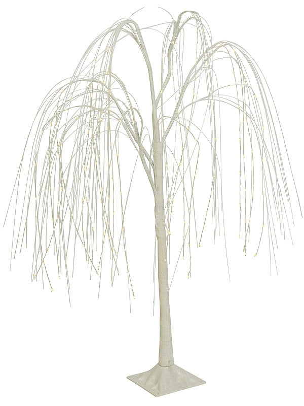 1m Micro LED Weeping Willow With Irridescent Glitter Branches - Warm White