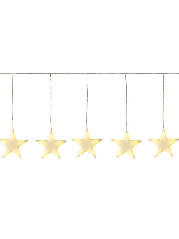 6 Frosted Stars String Light - Warm White