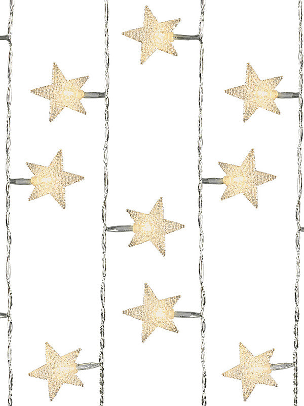 40 LED Star String Christmas Lights - Warm White