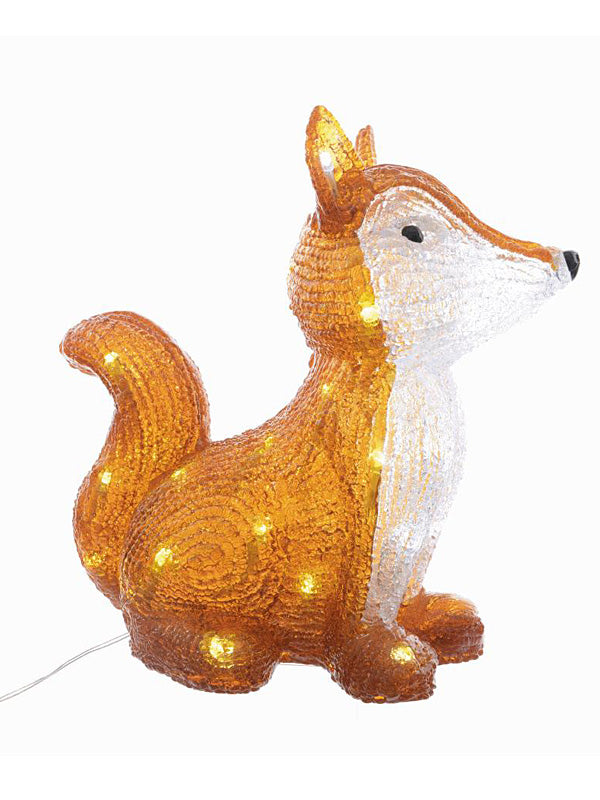 30cm LED Acrylic Sitting Fox