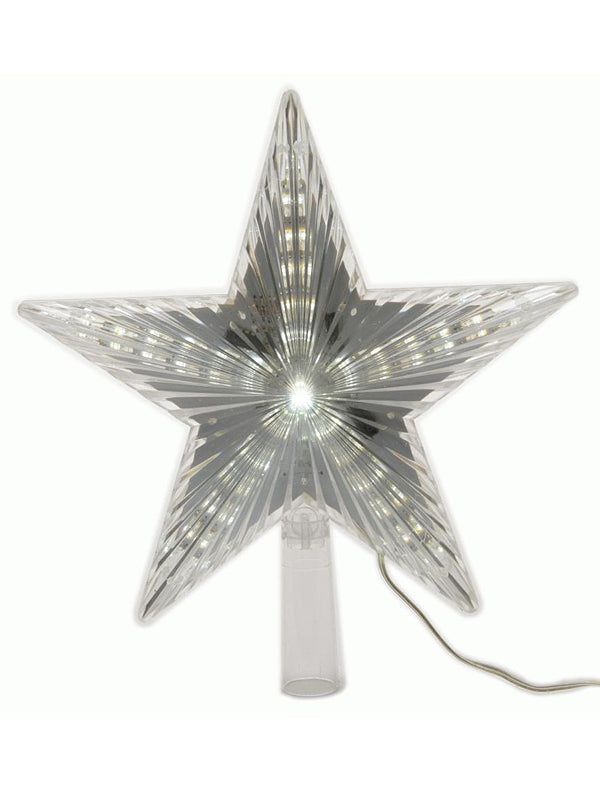 22cm LED Star Tree Topper - White