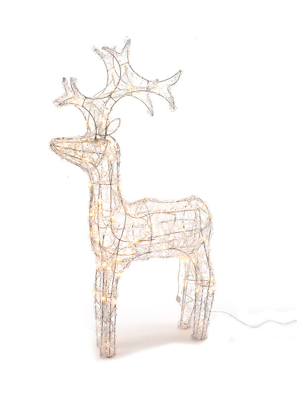 90cm LED Acrylic Reindeer - Warm White