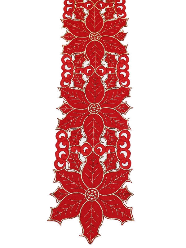 "Sonata 7¾"" x 63"" Table Runner - Red-Gold"