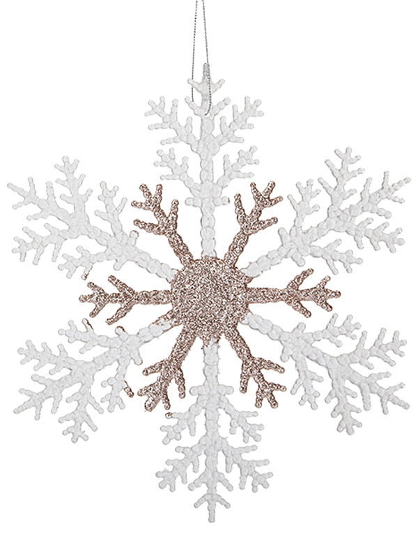 Acrylic Small Snowflake - Rose Gold