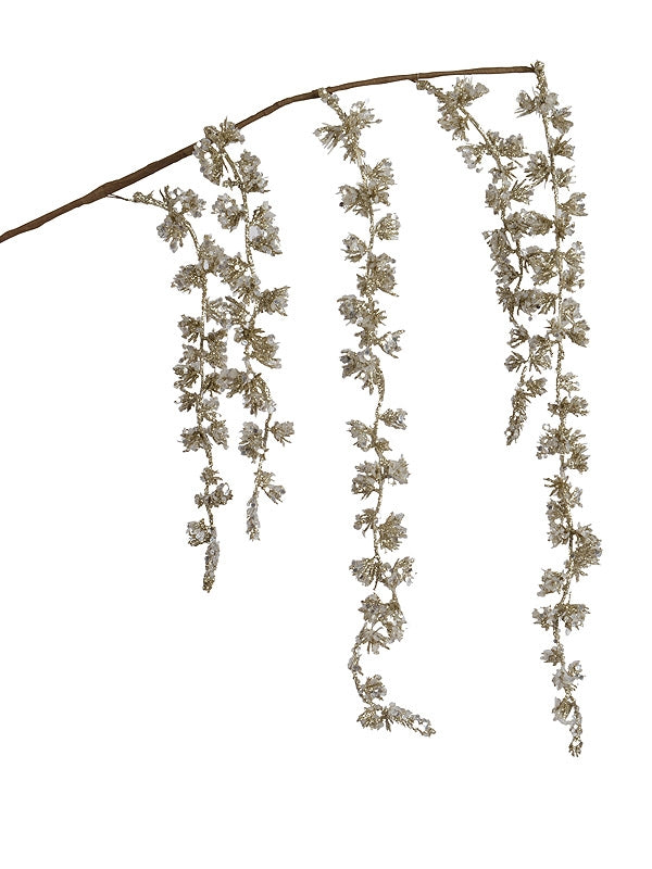 95cm Weeping Willow Stem with Pearl Glitter