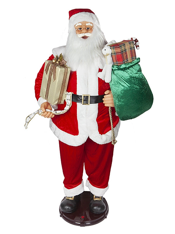 150cm (5ft) Animated Dancing Santa