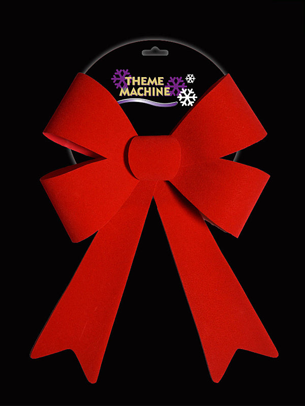 32cm Velour Bow - Red