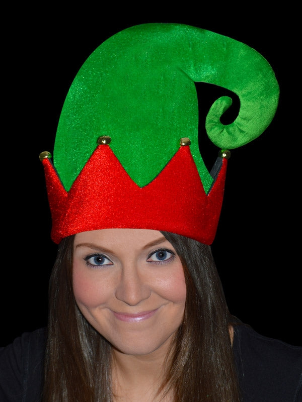 Large Elf Hat With Bells