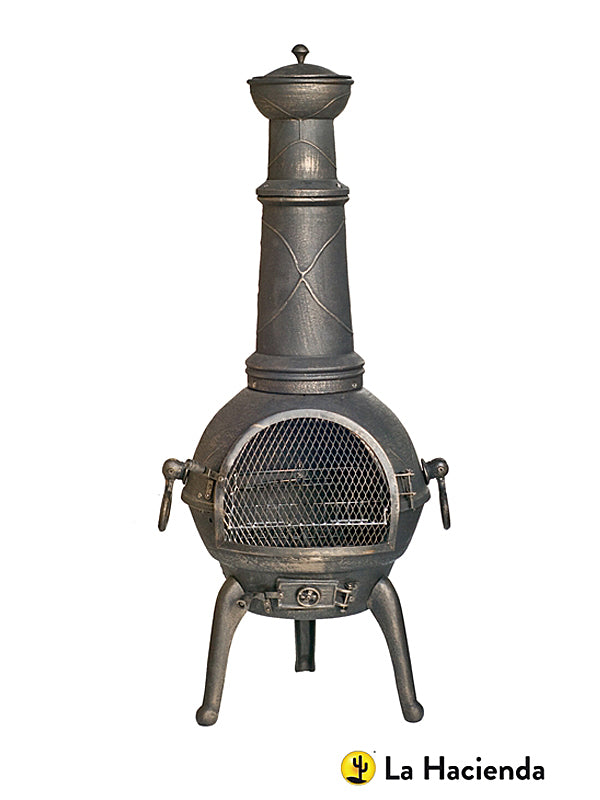 112cm Sierra Cast Bronze Chimenea with Grill - Large