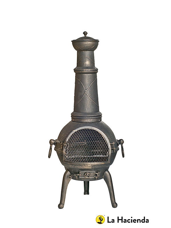 95cm Sierra Cast Bronze Chimenea With Grill - Medium