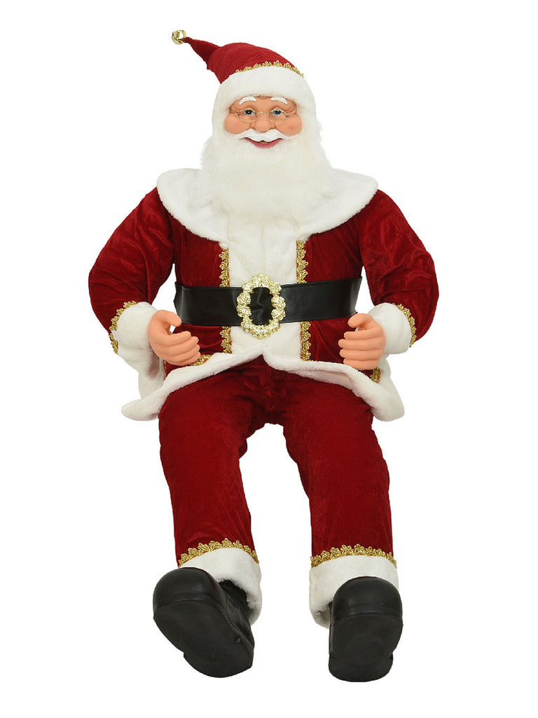 1.4m Sitting Santa with Bendable Arms And Legs