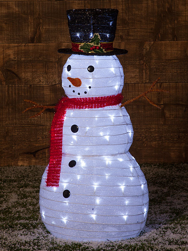 90cm Collapsible Snowman With 80 Twinkle LEDs