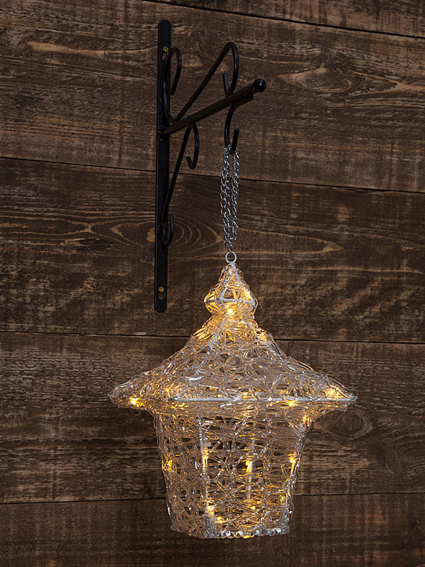 Acrylic Hanging Lantern With Twinkling Leds