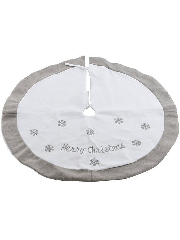 89cm Tree Skirt with Snowflakes