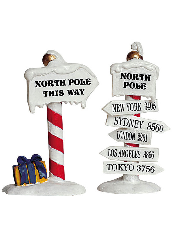 Set of 2 North Pole Signs