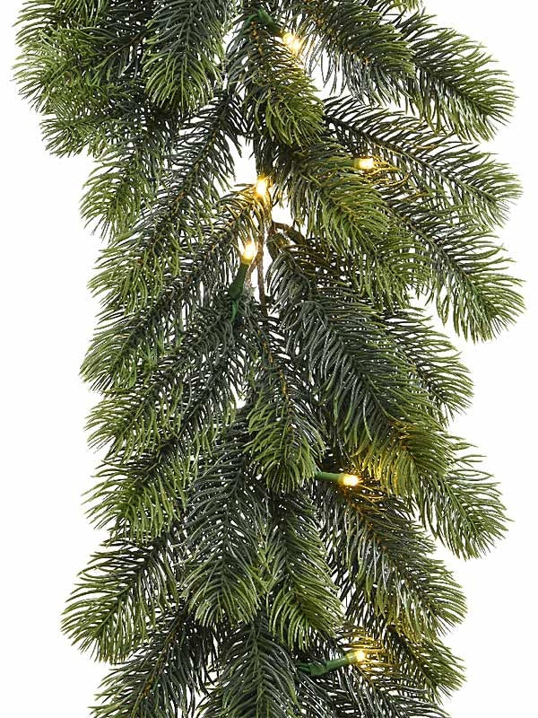 1.8m (6ft) Full PE Pre-Lit Battery Operated Garland