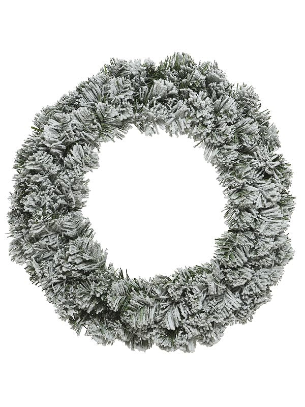 60cm Snowy Imperial Wreath With 200 Tips