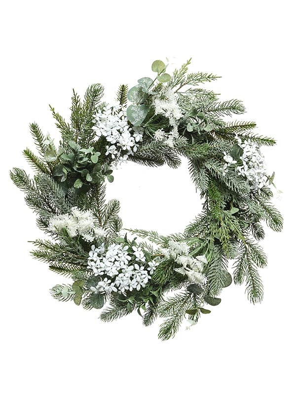 60cm Wreath Decorated With Hogweed