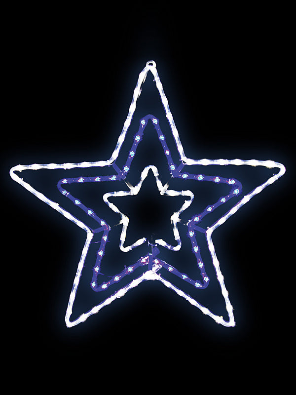 70 x 72cm LED Star Rope Light Silhouette - Blue & White