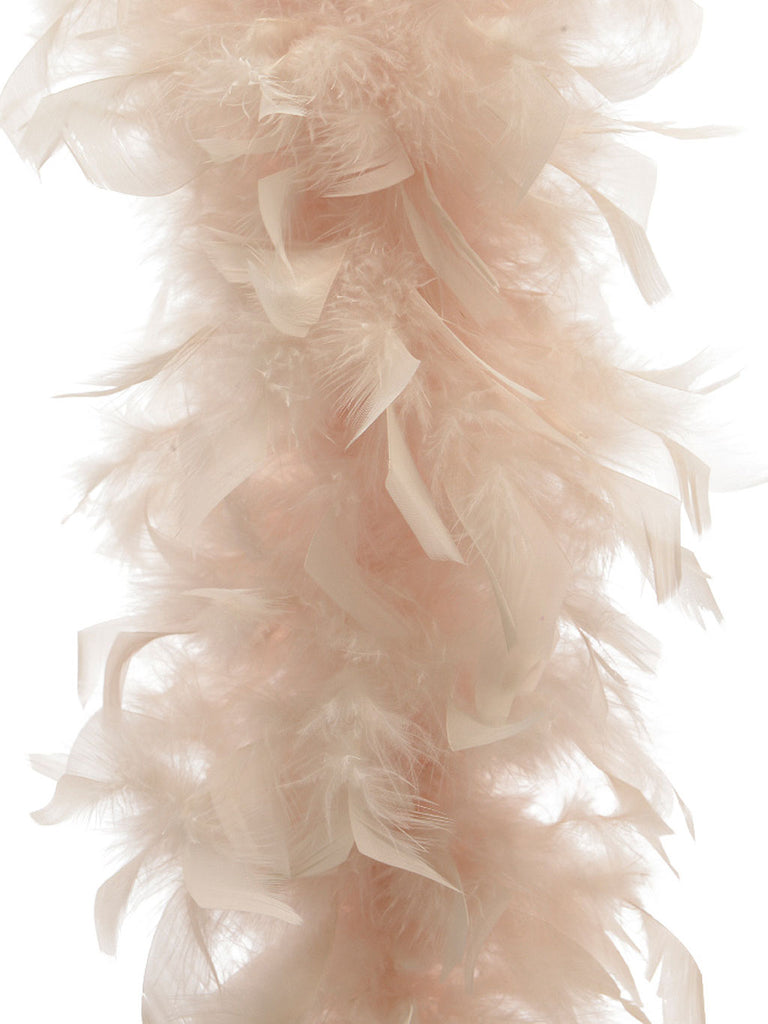 1.8m Feather Boa Garland - Pearl