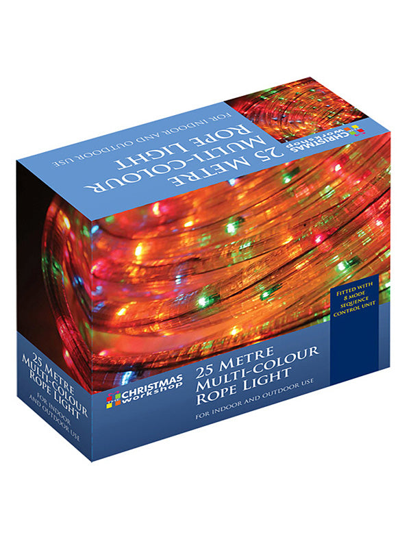 25m Chasing Christmas Rope Light - Multi-colour