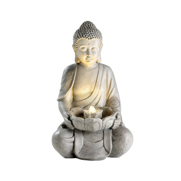 Large Sitting Buddha LED Water Fountain