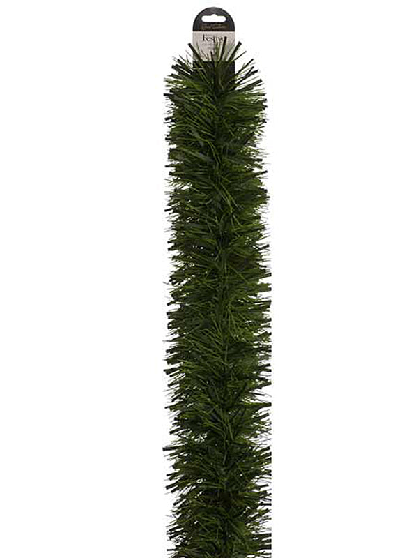 10M x 15cm Fine Cut Tinsel - Dark-Light Green