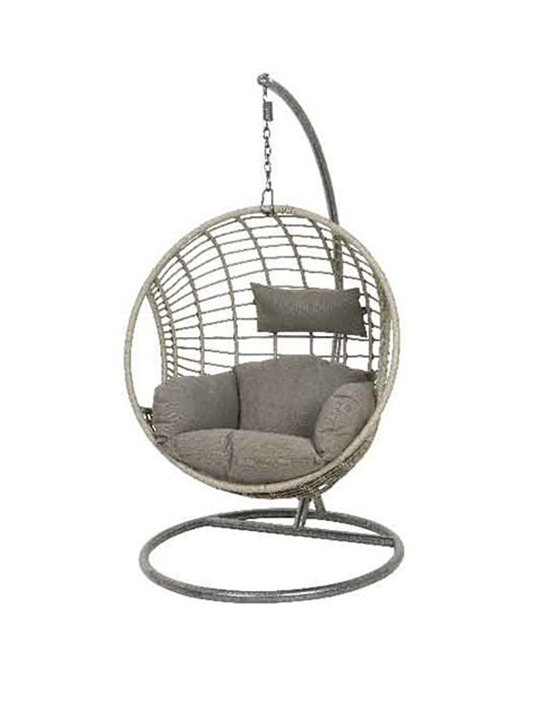 London Outdoor Wicker Egg Chair - Grey