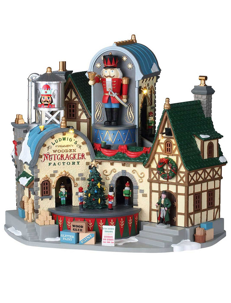Ludwig's Wooden Nutcracker Factory, with 4.5V Adaptor