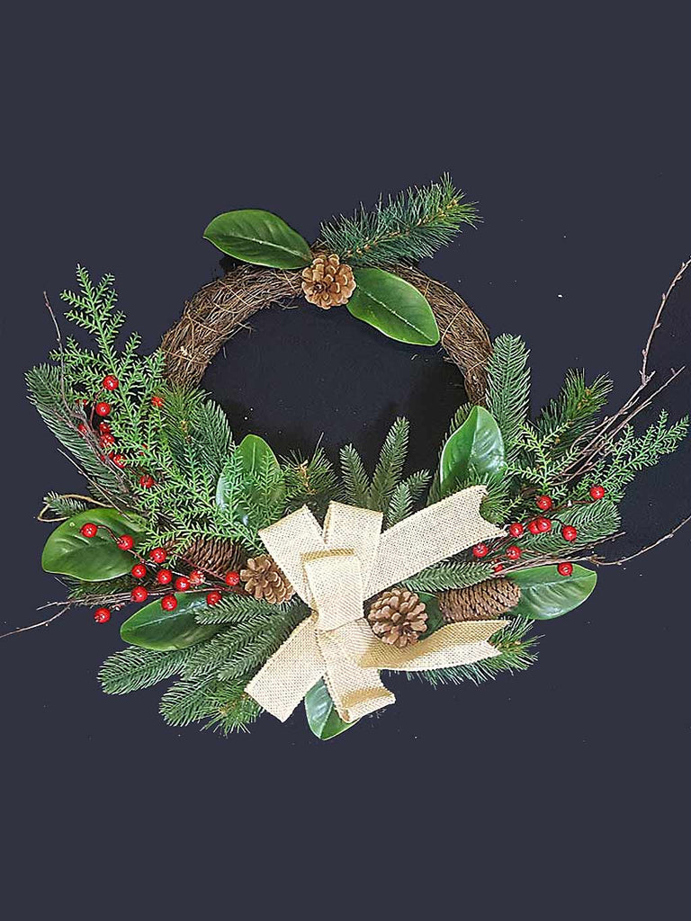"24"" Christmas Wreath with Bow"