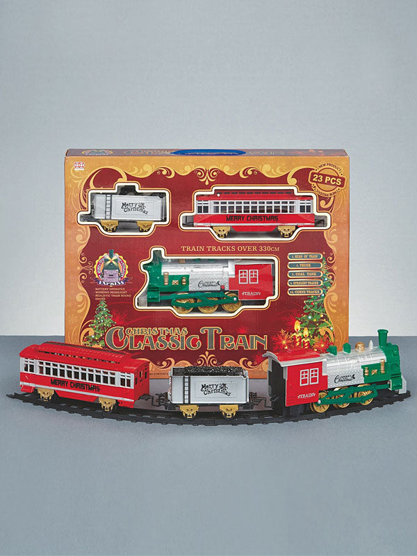 23pc Battery Operated Christmas Classic Train Set