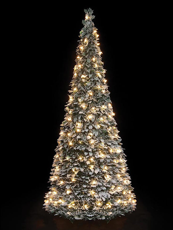 1.8M (6ft) LED Flocked Holly Pop-Up Christmas Tree