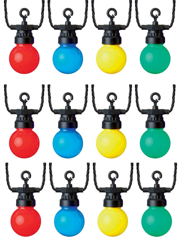 10 Multi-Action Outdoor Party Lights with Multi Leds and Timer